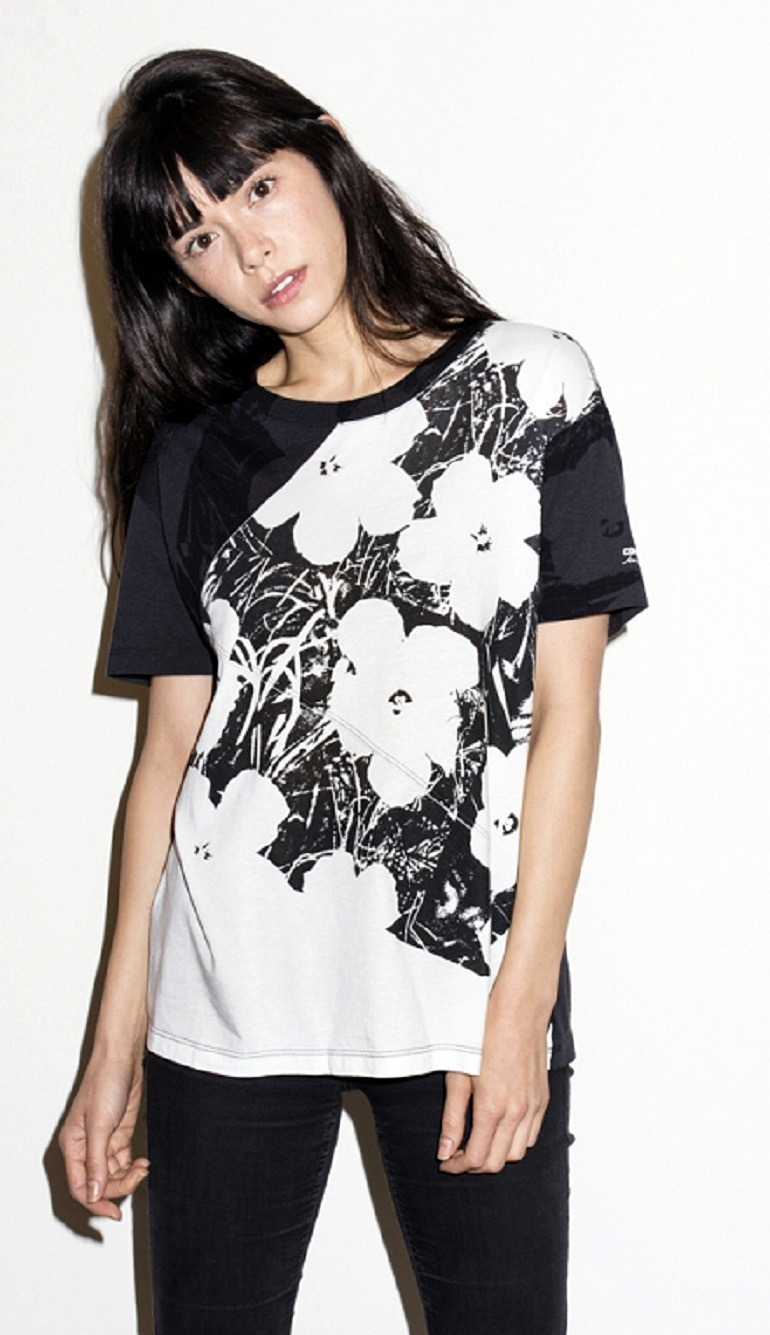 Image: Women's Andy Warhol Floral Slouchy Tee, is one of Andy Warhol art inspired fashion collection for women