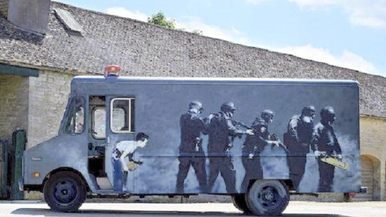 Banksy Graffiti Art SWAT Van to Be Sold at London Auction