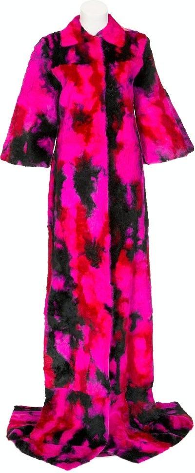 Image: Whitney Houston Stage-Worn Dolce & Gabbana Multi-Colored Fur Coat, 1999