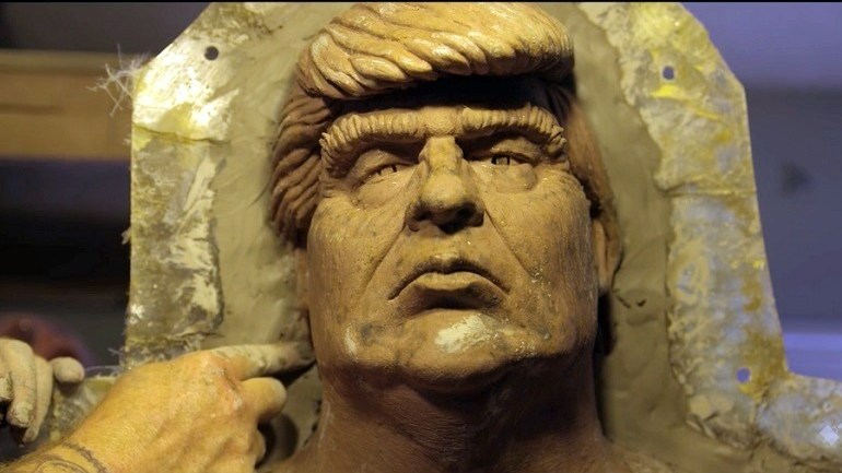 Video: Making of the Naked Trump Statues