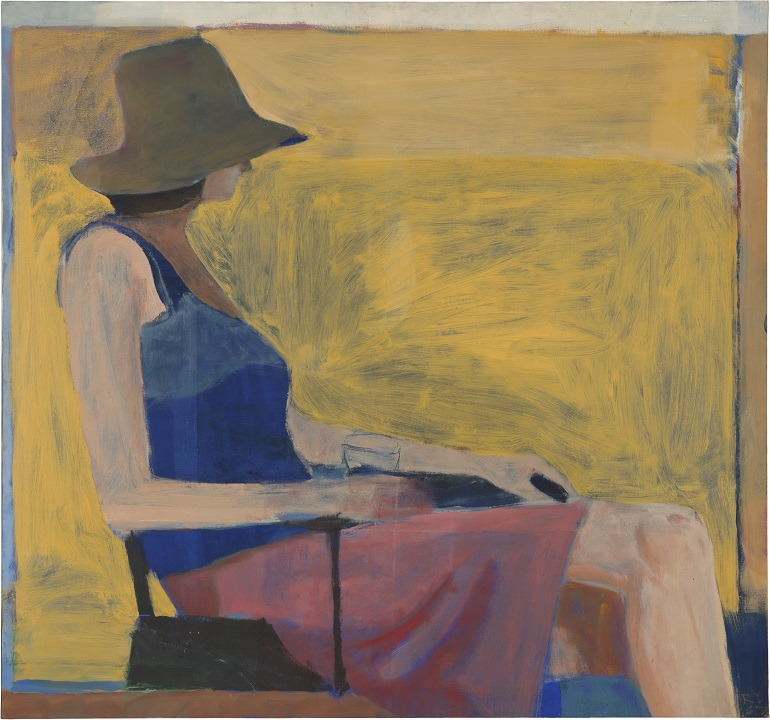 Image: Seated Figure with Hat by Richard Diebenkorn is one of the paintings in Matisse/Diebenkorn, one of the Fall shows at the Baltimore Museum of Art