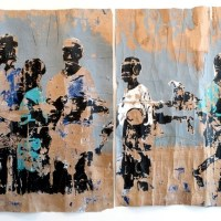 Image: Untitled (diptych) by Armand Boua on display at 1:54 Contemporary African Art in London