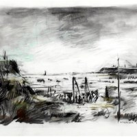 Image: Landscape Without a Crowd, a charcoal and chalk by South African artist William Joseph Kentridge was one of the Top 10 Contemporary African Art Sold at Africa Now