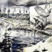 Image: Reservoir, a Charcoal and pastel drawing by South African artist William Joseph Kentridge, was Top 10 Contemporary African Art Sold at Africa Now