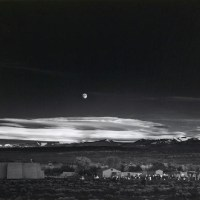 Image: Moonrise, Hernandez, New Mexico, a landscape photograph by Ansel Adams sold during Bonhams photography Auction