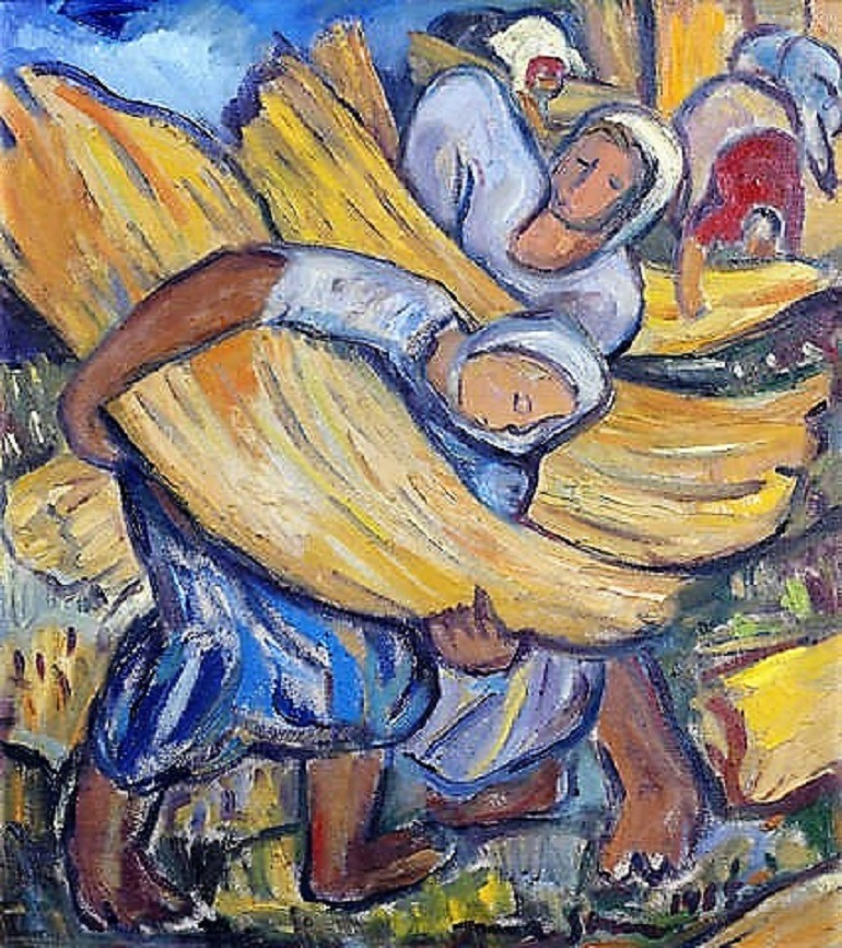 Image: Harvesters, an oil on canvas by Irma Stern was one of the top sellers at the Bonhams South African art auction in London