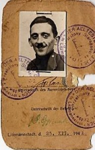 Image: Litzmannstadt Ghetto Identification Card of Jewish photographer Henryk Ross who documented life in the Lodz Ghetto set up by the Nazis