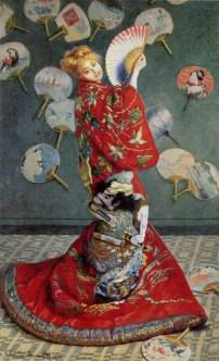 La japonaise, Madame Monet en costume japonais, 1876, Boston, museum of fine arts