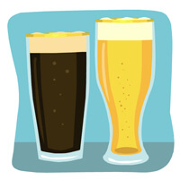 beer in glasses MC900432189