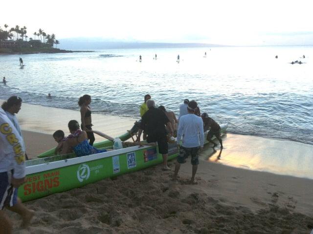 sea burial - family returns