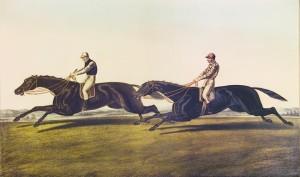 Horses racing by Herring