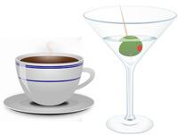 Health food coffee alcohol 200px