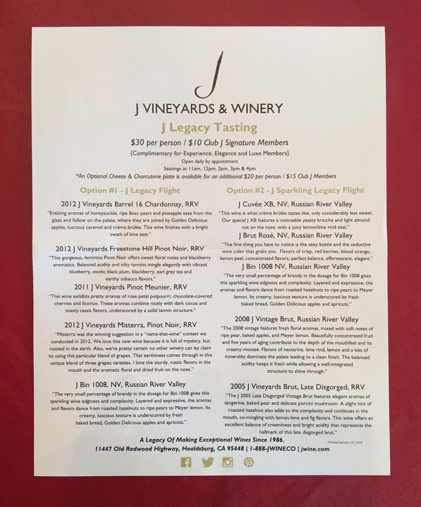 150122 03 J vineyards tasting rooms menu IMG_3479
