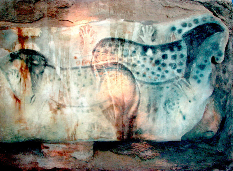 cave painting women