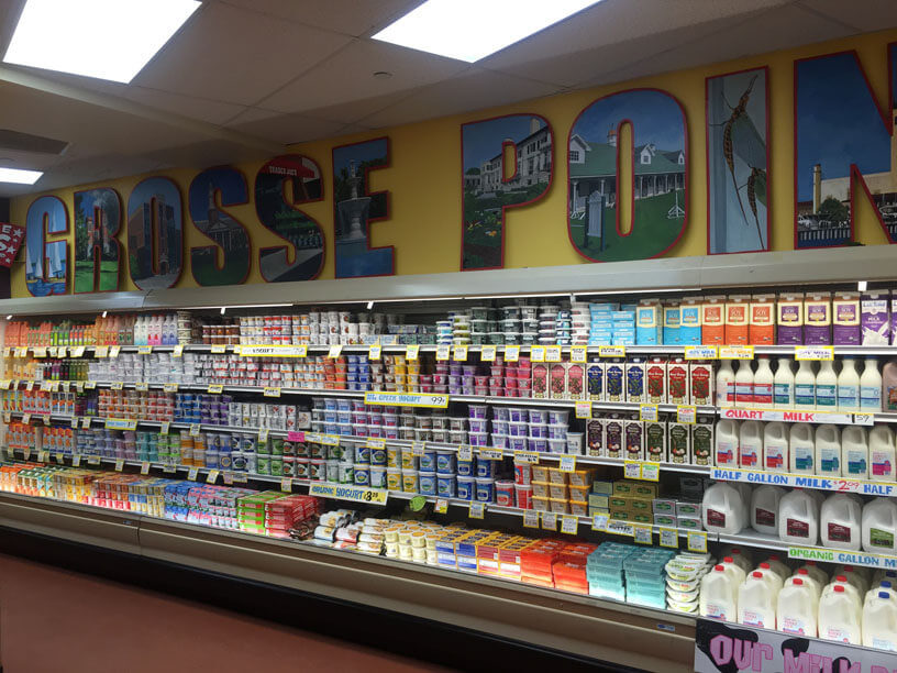 trader joe's Grosse Pointe sign