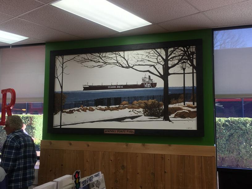 Trader Joe's mural of Lake St Clair