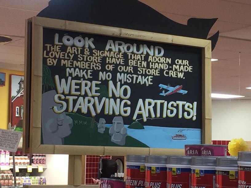 """Trader Joe's has """"no starving artists""""!"""