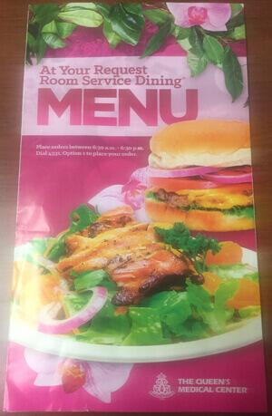 The Queen's Medical Center menu