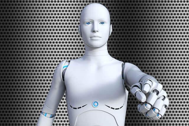 futuristic android robot