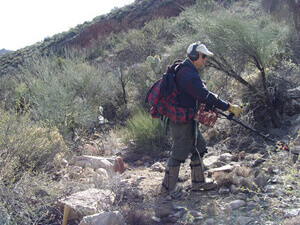 treasure hunt technology - metal detector