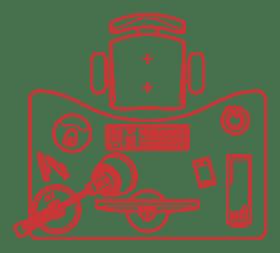 COVID-19 workplace safety, schematic desktop