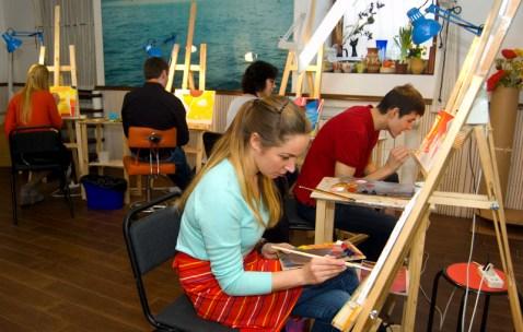 живопись в студии кориоративный мастер-класс