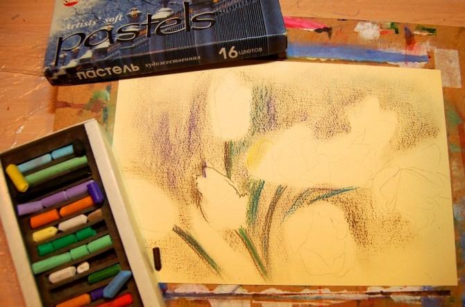 Пастельна крейда та пастельний папір. Техніка пастельного живопису