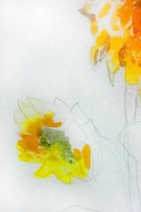 насыщенный оттенок желтого цвета в полутонах