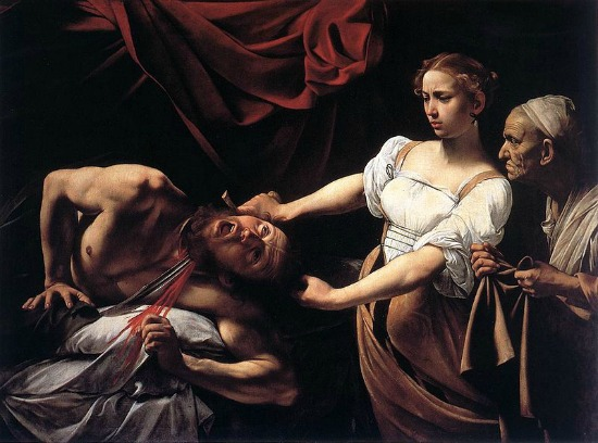 Caravaggio, Judith Beheading Holofernes, 1598-99 Judith and Holofernes paintings
