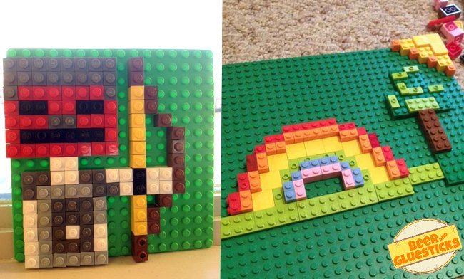 LEGO Mosaic  Build Some Art Today The Art Curator for Kids with Beer and Gluesticks   Lego Mosaic Sample