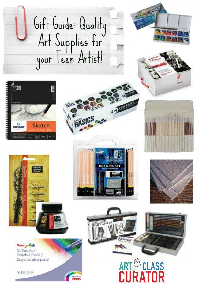 art supplies for teens art class curator