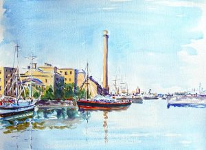 watercolour classes for beginners, liverpool and merseyside. example of a watercolour painting