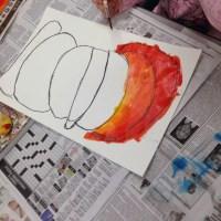 1st Grade Pumpkins Part 2 (Painting & Color Mixing)