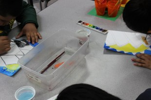 4th Grade - Painting Stained Glass (1)
