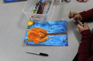 4th Grade Stained Glass Outlines and Painting (3)
