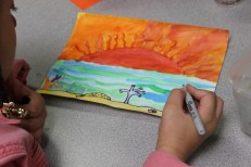 4th Grade Stained Glass Outlines and Painting (7)