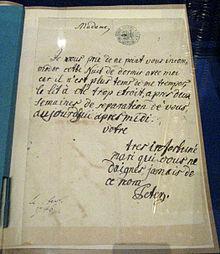 Lettre de Pierre le Gd