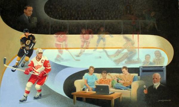 Art Country Canada JAMES LUMBERS Saturday Night Hockey