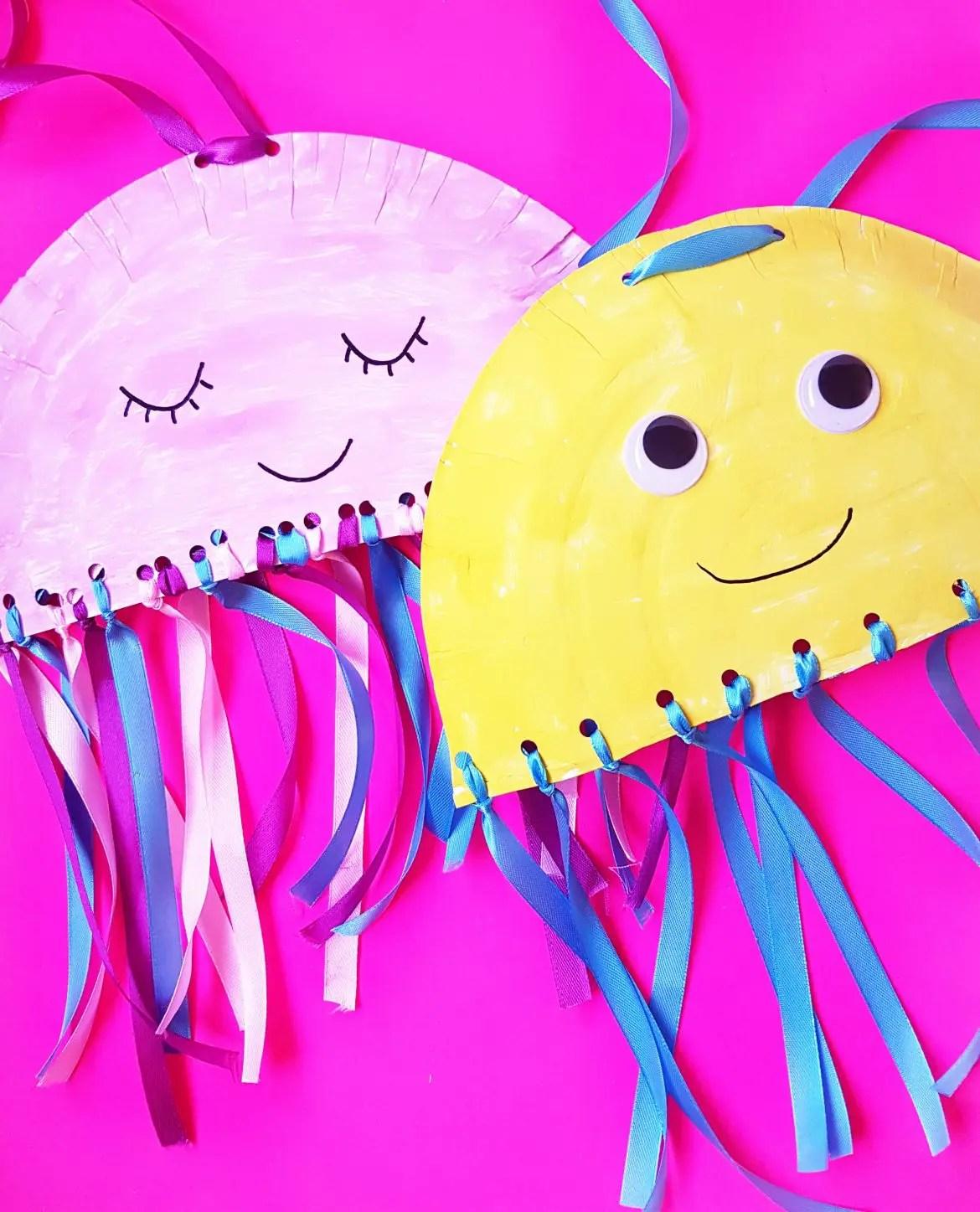 Kindergarten Craft Paper Plate Jellyfish Craft