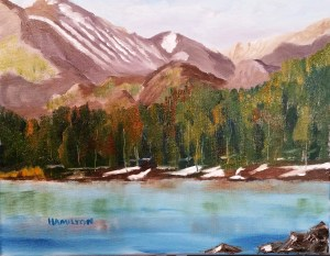 Image of painting of Bear Lake Colorado
