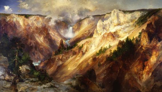 Thomas Moran, Grand Canyon of the Yellowstone, 1893-1901
