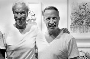 Art Broker Dewey Graff with Artist Tom Everhart.