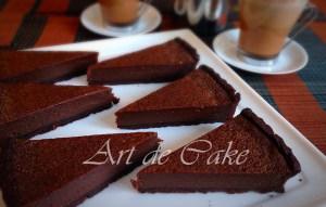 Warm Belgian Bitter Chocolate Tart