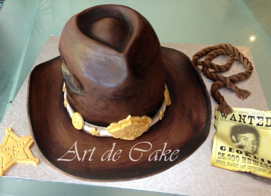 Wild West cowboy hat cake, Country and Western Cake,