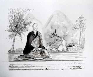 Tableaux Feng Shui Bureau Peintures Zen Lencre Noire
