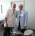 With Johnny Vana, famous big band-era drummer