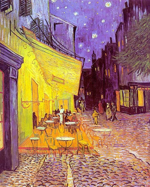 The Cafe Terrace on the Place du Forum, Arles, at Night (1888); by Vincent van Gogh