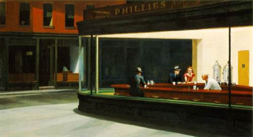 Nighthawks (1942); by Edward Hopper