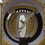 2001: A Space Odyssey | Yellow padded circular room on spaceship | Production Design Porn | Director Stanley Kubrick