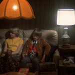 Alice Doesn't Live Here Anymore (1974) | Martin Scorsese production design | Martin Scorsese Films | Ellen Burstyn's son sits beside blonde girl, Jodie Foster on couch